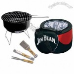 5-Piece Mini Cooler & Grill combo Set with BBQ tools