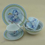 5-Piece Porcelain Breakfast Set