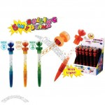 5 in 1 Bubble Stamp pen w/light and Ball Shaped Topper