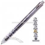 5 in 1 Multi-function ballpoint pen with stylus, highlighter, pencil and eraser