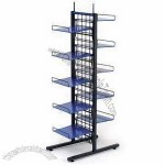 5-layer Floor POP Display Stand with Metal Rack and Four Castors