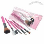 5-piece Makeup Brushes in PVC Bag