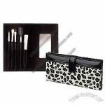 5-piece Nice Makeup Brush Set in Leopard Case