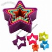 5-piece Star Cutter Set, Colorful for Each Size