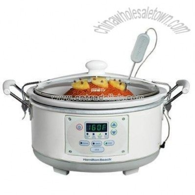 5-qt. Programmable Slow Cooker with Clips - White