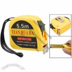 5.5M Yellow Self Retractable Ruler Tape Measure with Manual Lock