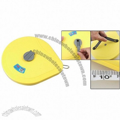50 m Long Yellow Measurers Measuring Tool Retractable Tape Measure