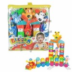 50-piece cartoon plastic building blocks, made of ABS