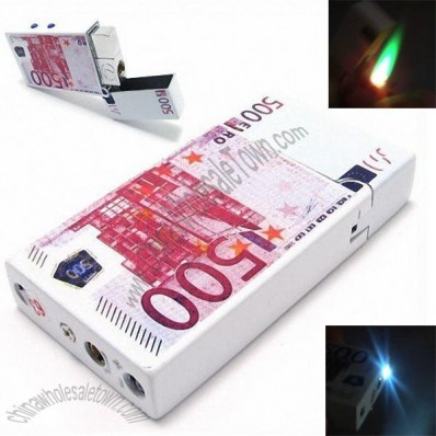 500 Euro Banknote Lighter with LED Money Detector Lamp
