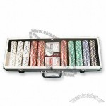 500 Pieces Poker Chip Set with One Dealer Button