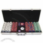 500 Tri-Color Double Dice Triple Crown Design Chips