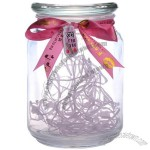 500ml round glass votive jar
