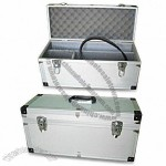 507 x 202 x 237mm Aluminum Tool Case with Egg Foam in Upper and Dividers in Lower Lid