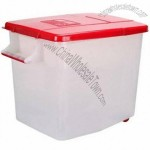 50KG Plastic Rice Storage Container With Handle