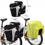 50L Cycling Bicycle Bag Bike Rear Seat Bag Pannier With Rain Cover