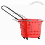 50L Shopping Basket with Wheels