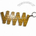 50cm/10 Folds Plastic Folding Ruler in Various Colors with Keyring