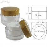50ml Bamboo Lid Cosmetic Cream Container