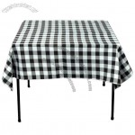 54 in. Polyester-Square Polyester Checkered Tablecloth