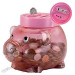 Pig Shape Electronic Coin Bank Recognizes Coins