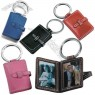 Leather Photo Key fob with Heavy Duty Metal Split ring