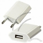 5V/1.0A USB Mini Phone Charger/Adapter with US AC Plug for iPod/iPhone/Samsung