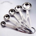 5pcs Stainless Steel Measuring Spoon for Kitchen