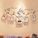 5pcs Wall Wooden Photo Frame Set