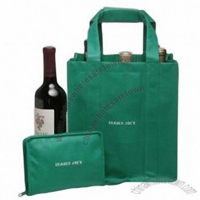 6 Bottle Reusable Recyclable Non-Woven Wine Tote Bags