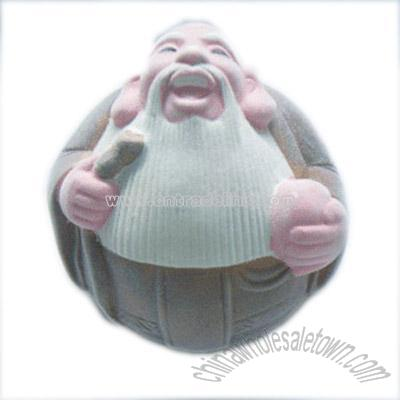 Old Man Coins 6'' Ceramic Lucky Old Man Coin