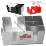 6 Compartments Eco-friendly Plastic Bar Caddy