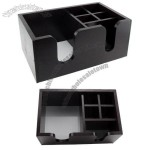 6 Compartments Wooden Bar Caddy