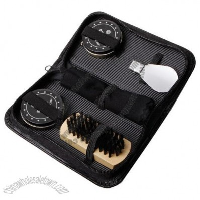 6 Piece Shoe Shine Kit Set