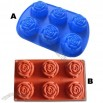 6-Rose Silicone Cake Mould Muffin Cups Cake Pan Soap Ice Mold