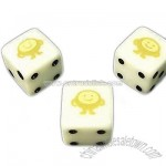 6 Side White Opaque Dice