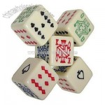 6 Sided poker dice. Play a game of draw poker with these special dice
