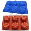 6-Sun Flowers Silicone Cake Mould Muffin Cups Cake Pan Soap Ice Mold