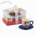 6-piece Coffee Cup and Saucer Set