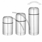 600/750/1200ml Double Wall Stainless Steel Vacuum Flasks For Food Container