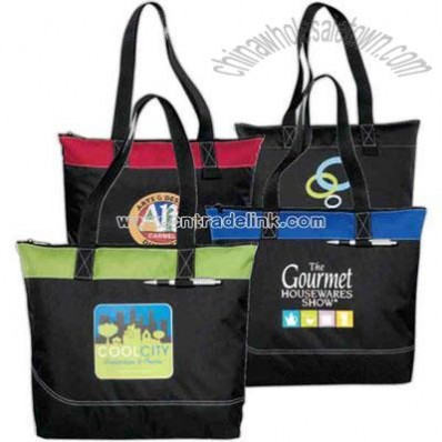 600 Denier Polyester Zippered Tote Bag