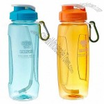 600ml PC Sports Bottle with Straw and Carabiner