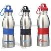 600ml Stainless Steel Sports Bottles With Carabiner and Rubber Grip