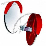 600mm Outdoor Round Acrylic Safety Convex Mirror with Hood, Wide-angle Viewing