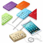 60W Multifunction 10-port USB Output Mobile Phone Charger with Multiple Protections