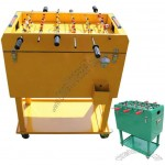 65L Metal Rolling Football Game Table Ice Cooler Cart