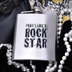 6oz Party Like a Rock Star Hip Flask