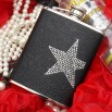6oz Star Studded Leather Hip Flask