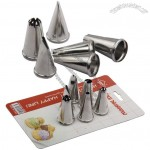 6pcs Stainless Steel Cookie Cake Decorating Tips Set