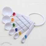 6pcs White Plastic Measuring Spoon Set