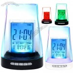 7 Color Light Nature Sound Calendar Clock